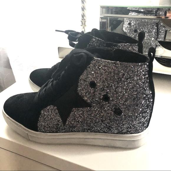Women's Steve Madden Snake Zipper Shoes High Top Sneakers Sz 7 Comfort Shoes